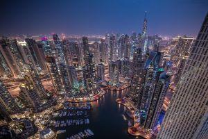 dubai skyscraper night city cityscape