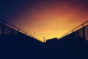 dusk photography urban city sunset