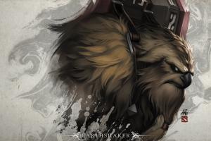 earthshaker fantasy art dota 2 loading screen pc gaming