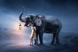 elephant men fantasy art