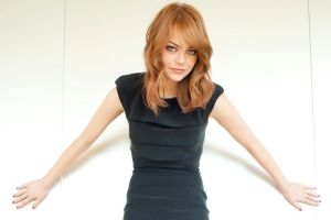 emma stone redhead white actress dress women