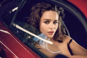 esquire women with cars actress emilia clarke brunette women