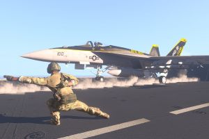 fa-18 hornet aim-9 sidewinder arma 3 aircraft carrier aim-120 amraam jet fighter