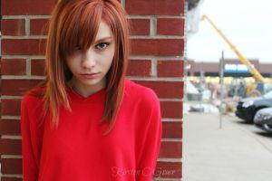 face closeup redhead