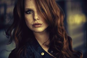 face long hair freckles blue eyes women smoky eyes redhead