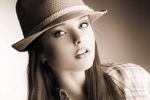 face portrait sepia anett griffel women