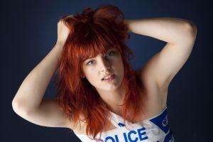 face redhead portrait women armpits