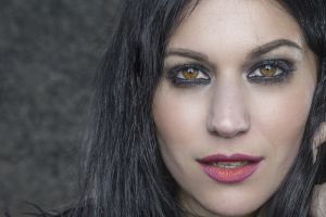 face smoky eyes women black hair looking at viewer closeup cristina scabbia