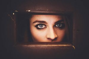 face women blue eyes eyes auburn hair