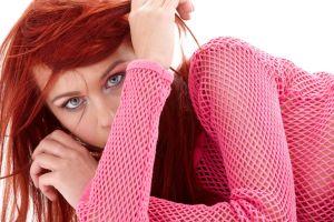 face women model redhead