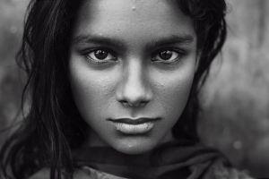 face women monochrome