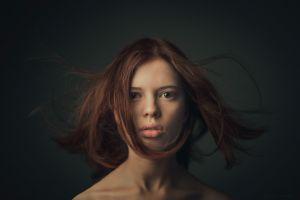 face women redhead portrait