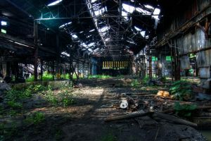 factory building abandoned ruin
