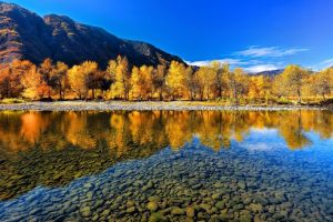 fall reflection landscape mountains nature russia altai mountains