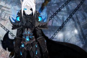fan art anime girls pc gaming world of warcraft anime blue eyes