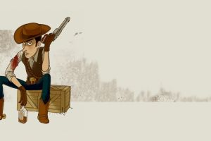 fan art bottles simple background revolver toy story cowboys artwork alcohol sheriff woody
