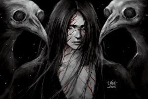fantasy art 2015 (year) artwork creature selective coloring long hair