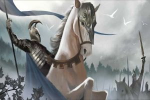 fantasy art artwork armored horse warrior helmet