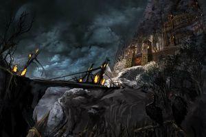 fantasy art castle artwork