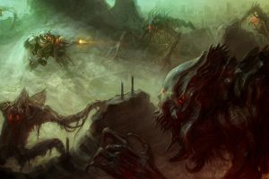 fantasy art creature aliens horror