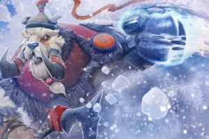 fantasy art creature artwork snow