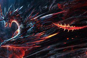 fantasy art creature fire dragon dragon