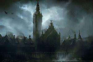 fantasy art dark fantasy city artwork
