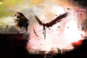 fantasy art dark wings death scythe