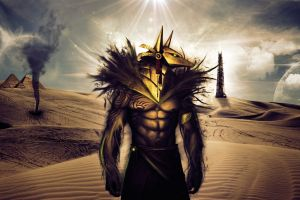 fantasy art digital art anubis