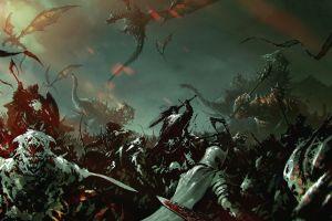 fantasy art digital art dragon nazgûl war the lord of the rings