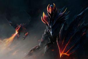 fantasy art dragon knight dota 2 dragon