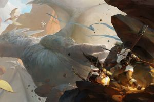 fantasy art dragon warrior