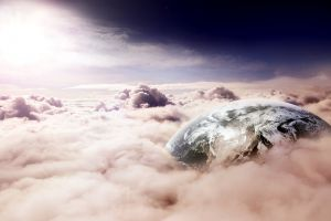 fantasy art earth clouds
