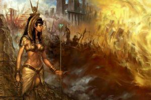 fantasy art egyptian artwork