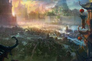 fantasy art fantasy city ancient imperial city