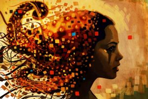 fantasy art fantasy girl abstract face artwork women