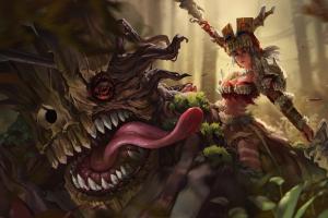 fantasy art fantasy girl creature tongues