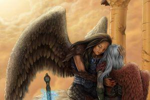 fantasy art fantasy girl wings