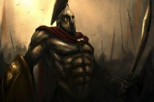 fantasy art fantasy men 300 movies warrior