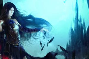 fantasy art feathers shanoa (castlevania) castlevania: order of ecclesia video games video game girls castlevania
