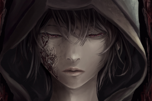 fantasy art hoods dark women