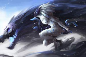 fantasy art kindred league of legends video games