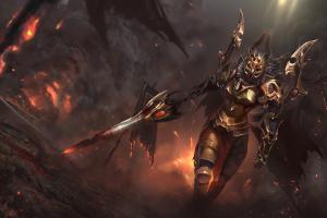 fantasy art legion commander armor dota 2 video games sword