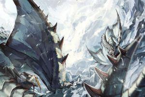 fantasy art monster hunter dragon