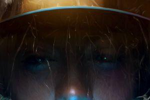 fantasy art rain eyes