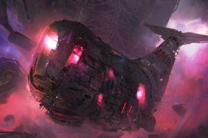fantasy art science fiction whale