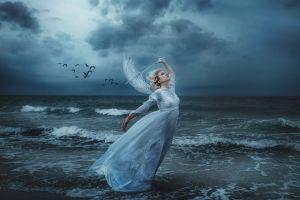 fantasy art sea women model