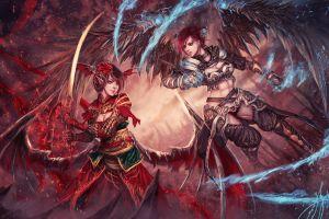 fantasy art sword wings
