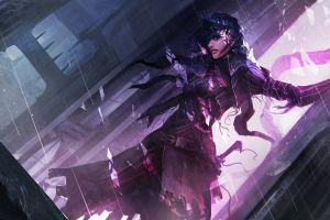 fantasy art women purple