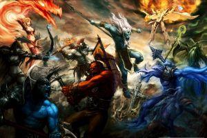 fantasy girl dota 2 video game warriors battle creature fantasy art video games warrior pc gaming